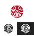 artistic logo design vector image vector image