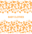 baby clothes back vector image