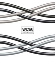 Black and gray cables background vector image
