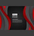 black and red color geometric curve abstract vector image vector image