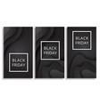 black friday sale poster black background vector image