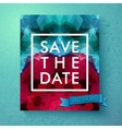 Bold simple Save The Date wedding template vector image vector image