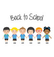 boys and girls students vector image