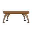 brown table platform stand template for object vector image