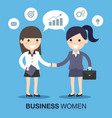 businesswoman shaking hands vector image vector image