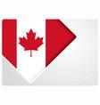 canadian flag design background vector image