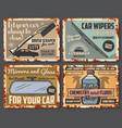 car auto parts automobile accessories shop vector image vector image