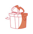 christmas gift box bow ribbon decoration vector image vector image