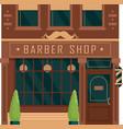 city building vintage facade barbershop vector image