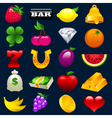 Colorful Slot Machine Icons vector image