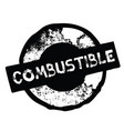 combustible stamp on white vector image