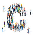 crowded isometric people typeface vector image vector image