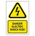 danger electric shock risk vector image