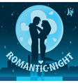 Dating on the roof vector image vector image