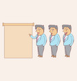 digitally drawn explainer business man character vector image vector image