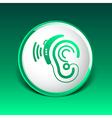 Ear icon hearing aid ear listen sound graphics vector image vector image