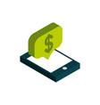 ecommerce business internet smartphone money vector image