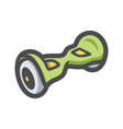 electric two wheels balance board icon vector image