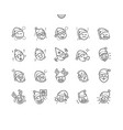 emoticons with christmas theme well-crafted pixel vector image