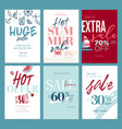 eye catching summer sale mobile banners ads and p vector image vector image