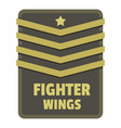 fighter wings icon logo flat style vector image vector image