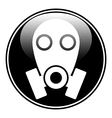 Gas mask symbol button vector image vector image