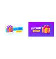 giveaway winner gifts promo banner social vector image