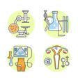 gynecology outline flat icons vector image