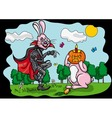 Halloween Jack and Easter Rabbit vector image vector image