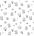 hand drawn funny pattern background vector image vector image