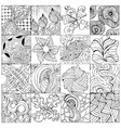 hand drawn zentangle background for coloring page vector image vector image
