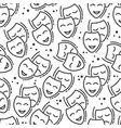 happy and sad face drama and comedy seamless vector image