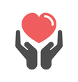 Heart care icon vector image vector image