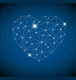 heart made from triangles as constellation vector image vector image