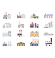 Industrial and manufacturing factory building vector image