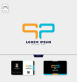 initial p or pp logo template and free business vector image
