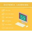 Isometric education infographic vector image vector image