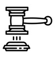 judge gavel decision icon outline style vector image