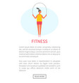 jumping rope working out woman training fitness vector image vector image