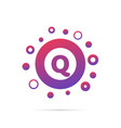 letter q with group of dots logo icon sign vector image
