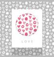 love theme design vector image vector image
