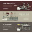 Military Army Horizontal Banners Set vector image vector image