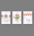 mothers day greeting card design set happy mother vector image vector image
