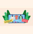online sale concept discount store app vector image