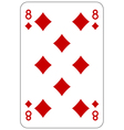 Poker playing card 8 diamond
