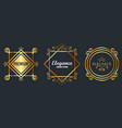 premium and elegance set frames vector image