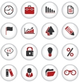 presentation office buttons vector image
