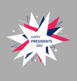 presidents day banner in abstract style vector image vector image