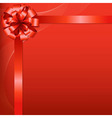 Red Background With Red Bow vector image vector image