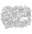 russia hand drawn cartoon doodles vector image